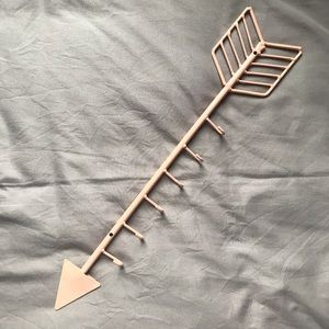 Urban Outfitters Pink Arrow Jewelry Metal Hanger